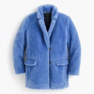 NWT J.CREW The Teddy Coat in Plush Fleece Sz L $24